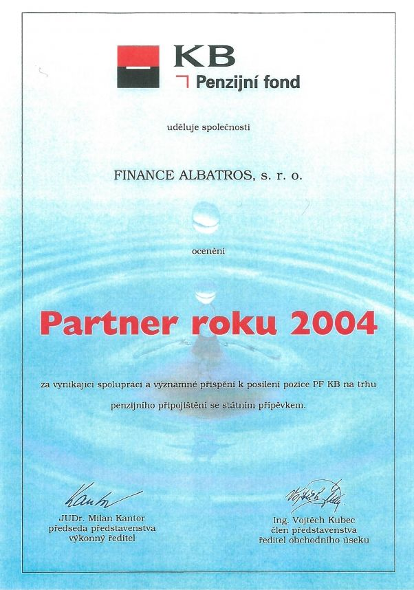 FINANCE ALBATROS - reference 2004