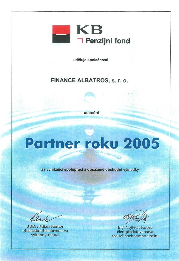 FINANCE ALBATROS - reference 2005