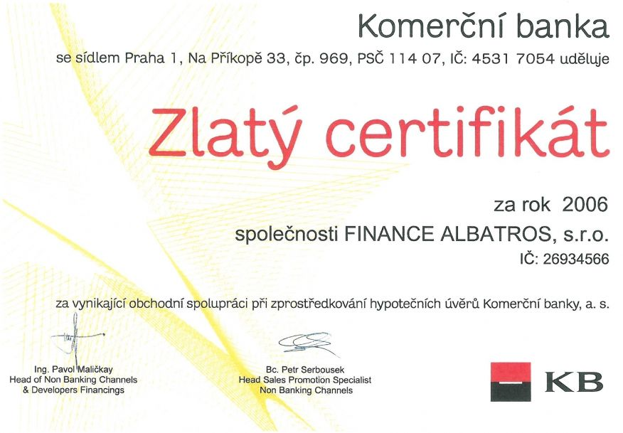 FINANCE ALBATROS - reference 2006