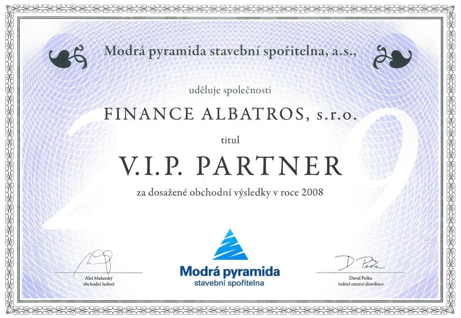 FINANCE ALBATROS - reference 2008