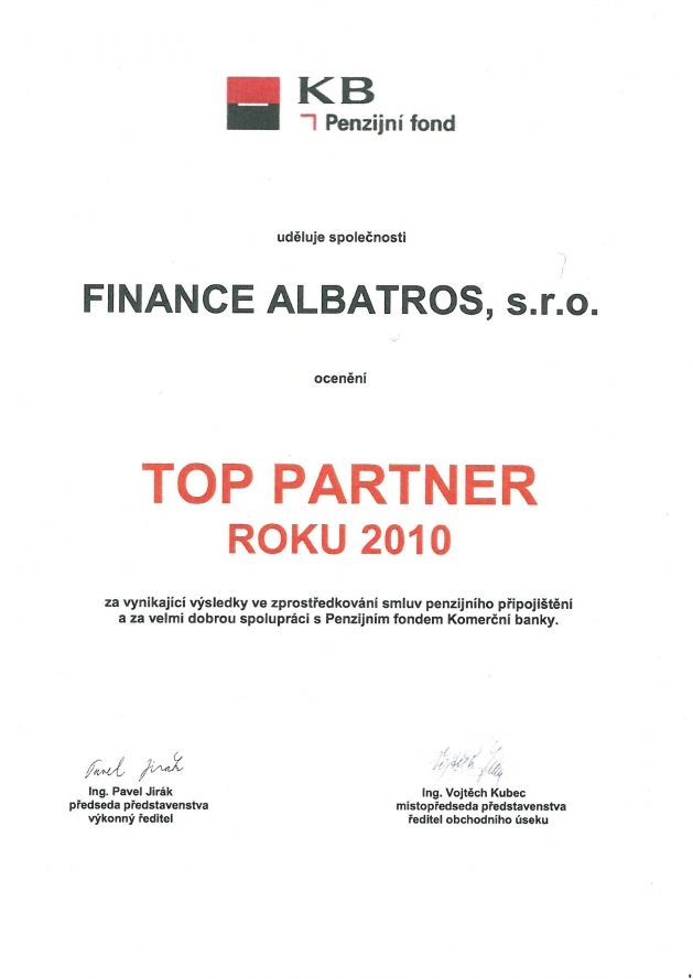 FINANCE ALBATROS - reference 2010