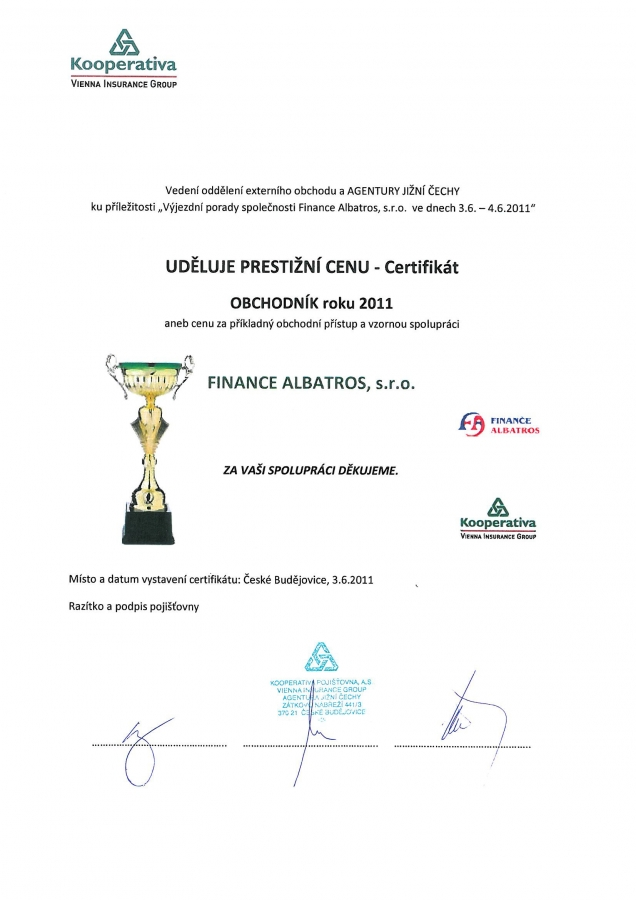 FINANCE ALBATROS - reference 2011