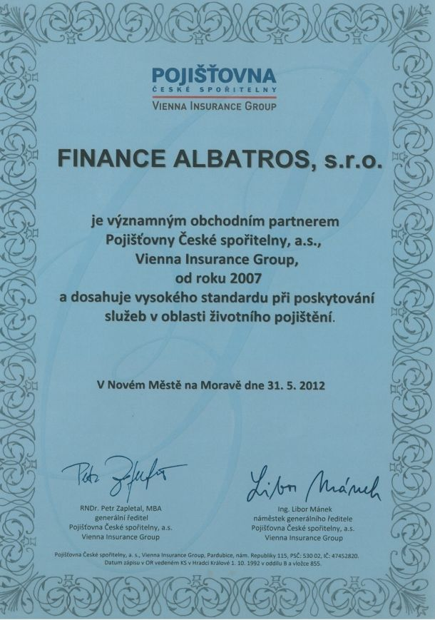 FINANCE ALBATROS - reference 2012