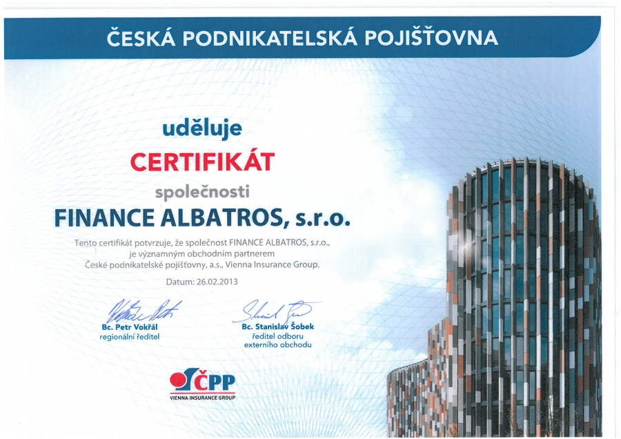 FINANCE ALBATROS - reference 2013