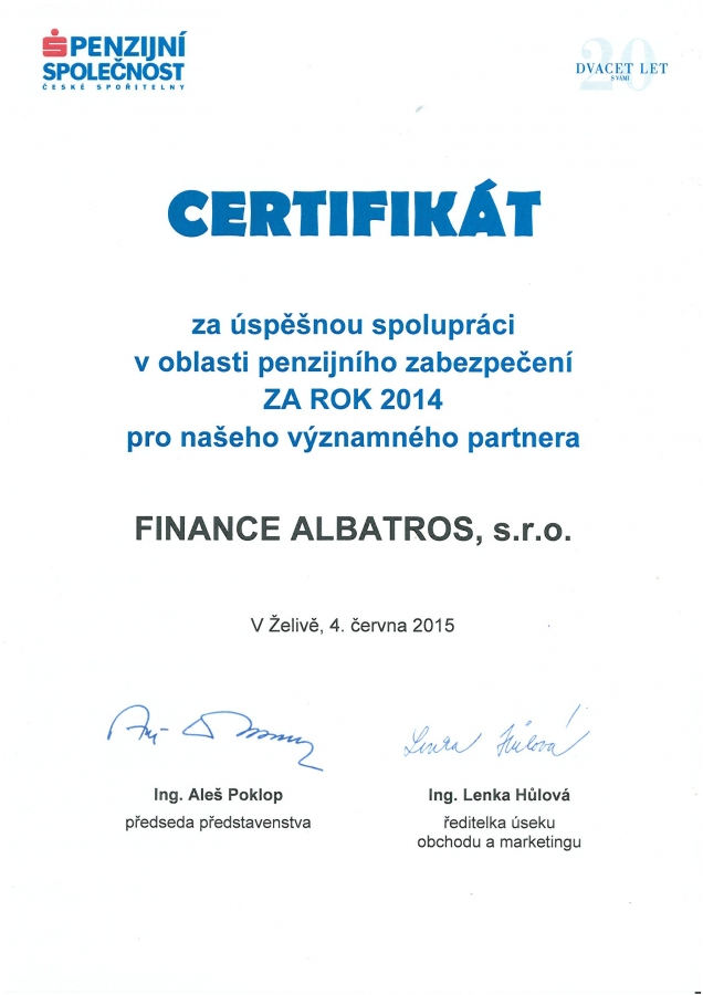 FINANCE ALBATROS - reference 2015